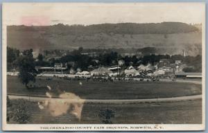 NORWICH NY CHENANGO COUNTY FAIR GROUNDS 1910 ANTIQUE REAL PHOTO POSTCARD RPPC