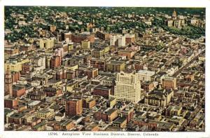 USA Aeroplane View Business District Denver Colorado 01.91