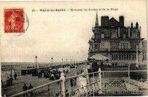 CPA MALO-les-BAINS - Terrasse du casino et de la Plage (193872)