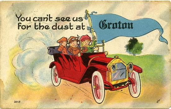 Old Car Greetings from Groton NY, New York pm 1914