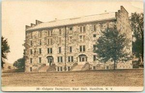 HAMILTON, New York RPPC Real Photo Postcard Colgate Dormitory, East Hall 1930s