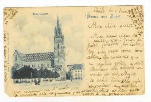 Gruss aus Basel, Switzerland , PU-1900, Munsterplatz