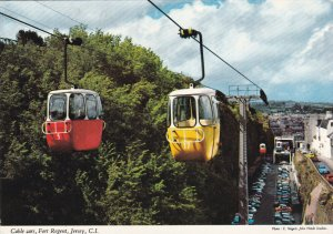 JERSEY, Channel Islands, PU-1974; Cable Cars, Fort Regent
