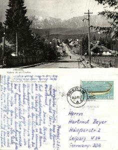 romania, PREDEAL, Vedere de pe Cioplea (1962) RPPC Postcard