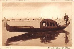 Italy Venezia, Gondola e Bacino S. Marco, boat barca, Venice 1929