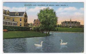 University of Nevada Reno Swans Manzanita Lake linen postcard