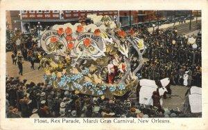 Mardi Gras Float, Rex Parade 1926, New Orleans, ll Cent Rail Rd,La. Old Postcard