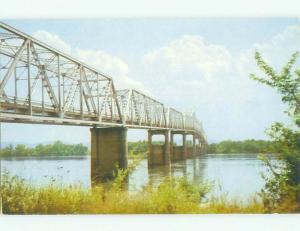 Unused Pre-1980 BRIDGE SCENE Huntsville Alabama AL HQ9611-12