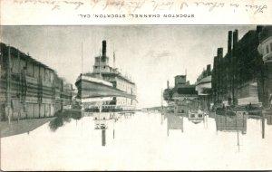 California Stockton Steamer On Stockton Channel