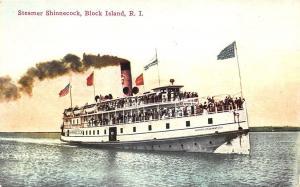 Steamer Shinnecock at Block Island RI Postcard