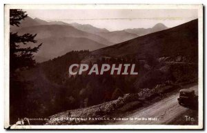 Old Postcard The descent of the Col d & # 39Aspin on Payolle View of the Pic ...