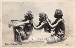 African Nude Postcard The Madras Hunt Unused