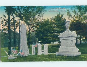 Divided-back MONUMENT SCENE Manchester New Hampshire NH AE8014