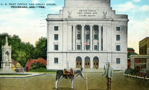 Vintage US Post Office & Courthouse, Texarkana, AR In Color P164