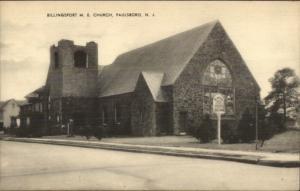 Paulsboro NJ Billingsport ME Church Old Postcard