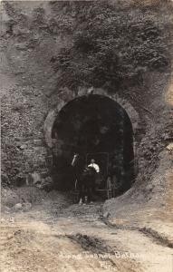 E90/ Bethany West Virginia RPPC Postcard c1910 Pike Long Tunnel Buggy