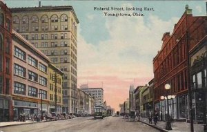 Ohio Youngstown Federal Street Looking East 1911