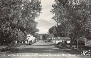 LP75   Ten Sleep Wyoming  RPPC Postcard   View HWY 16