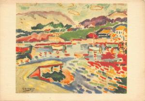 Vintage Art Postcard, The Port by Georges Braque French Artist 92S