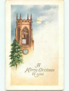 Divided-Back CHRISTMAS SCENE Great Postcard W9506