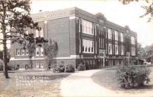 Spooner Wisconsin~Grade School~1939 Postcard RPPC