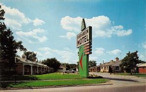 EVERGREEN MOTEL-U.S ROUTE 12-LARGE NEON SIGN-INKSTER MICHIGAN POSTCARD