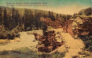 Lewistown Montana Spring Creek Scenic View Antique Postcard K19167