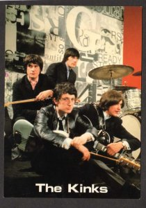 The Kinks British Band Boy Music Musicians Rock & and Roll Group Postcard