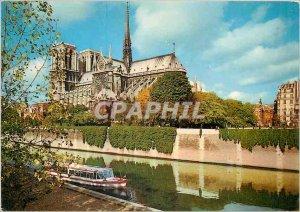 Modern Postcard Paris Notre Dame and the Seine