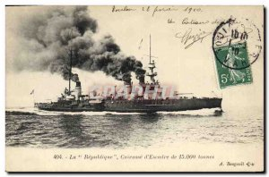 Old Postcard Boat War The Republic of Breastplate & # 39escadre
