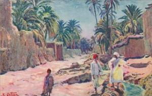 Algeria Entree d'un village saharien