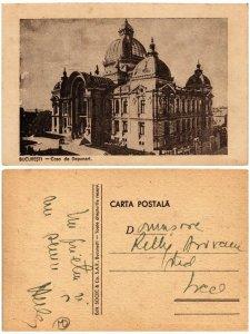 CPA AK BUCURESTI Casa de Depuneri ROMANIA (504262)