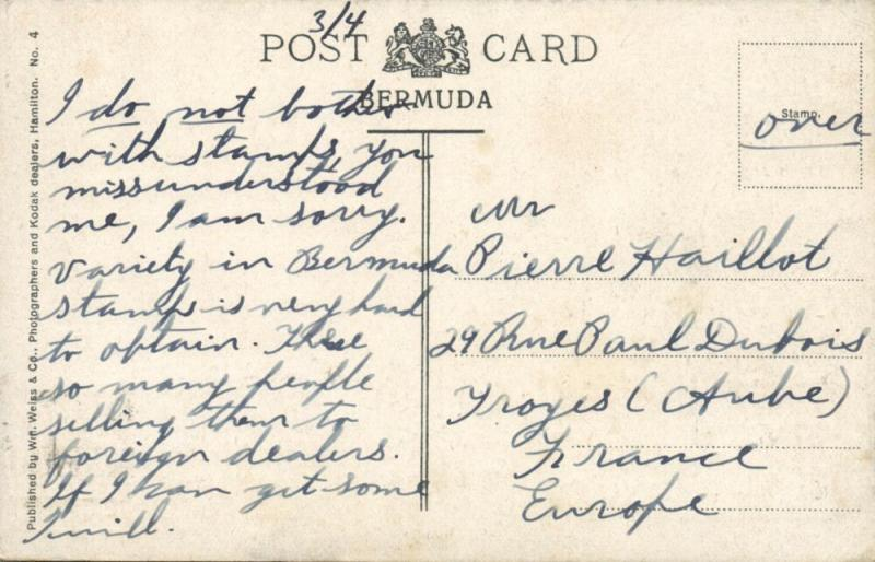 bermuda, Cedar Avenue (1930s) Stamp