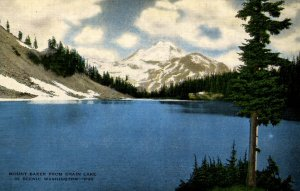 WA - Mt. Baker from Chain Lake