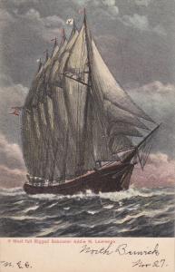 6 Mast full Rigged Schooner Addie M. Lawrence, 00-10s