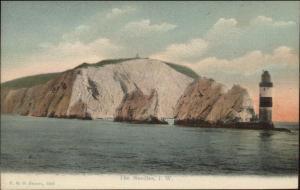 Isle of Wight Needles Lighthouse c1910 Postcard