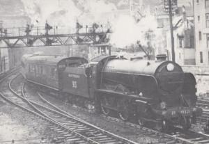 Ashford Kent Christs Hospital Train at Hewkesbury Street Junction Dover Postcard
