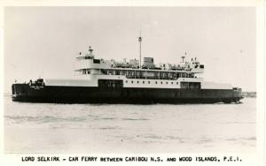 Canada - Nova Scotia & Prince Edward Island. Lord Selkirk Car Ferry    *RPPC