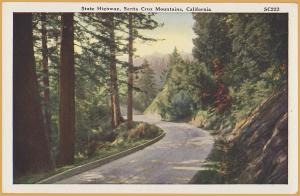 Santa Cruz, Calif., State Highway, Mountains of Santa Cruz