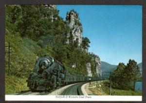 VA Norfolk & Western Railroad Train PEMBROKE VIRGINIA