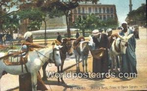 Cairo Eqypt Donkey Boys, Opera Square  Donkey Boys, Opera Square