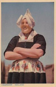 Netherlands Volendam Native Girl In Traditional Dress