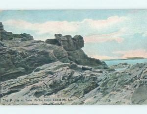 Divided-Back TWIN ROCKS Cape Elizabeth - Near Portland Maine ME HM7689