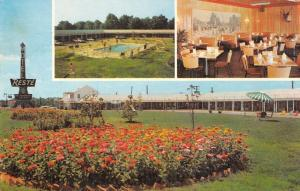 Emporia Virginia interior/exterior views Reste Motel vintage pc Z16374