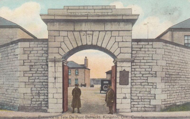 KINGSTON , Canada , 1900-10s ; Tete De Pont Barracks , Entrance