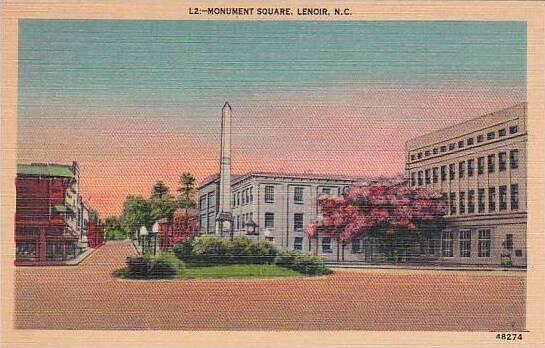 North Carolina Lenoir Monument Square