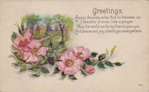 Greetings With Flowers 1924
