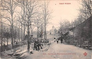 Square du Pere Lachaise Paris France Postal Used Unknown, Missing Stamp