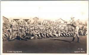 RPPC  CAMP KEARNY (Kearney), California CA   Soldiers Instruction 1910s Postcard