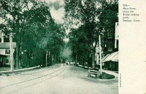 CT - Danbury. Main Street Looking North Above the Bridge